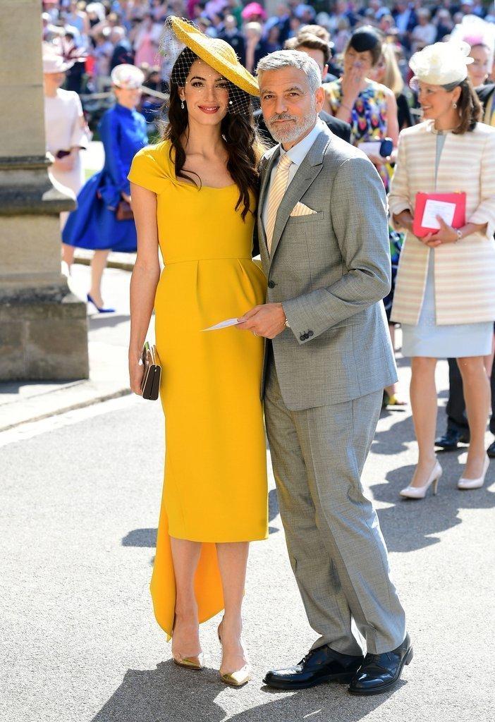Амаль и Джордж Клуни на свадьбе принца Гарри и Меган Маркл в Виндзоре Megan, великобритания, гарри, знаменитости, принцесса, свадьба, фотография