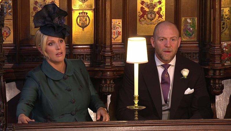 Двоюродная сестра принца Гарри Зара Филлипс с супругом Майком Тинделом  Megan, великобритания, гарри, знаменитости, принцесса, свадьба, фотография