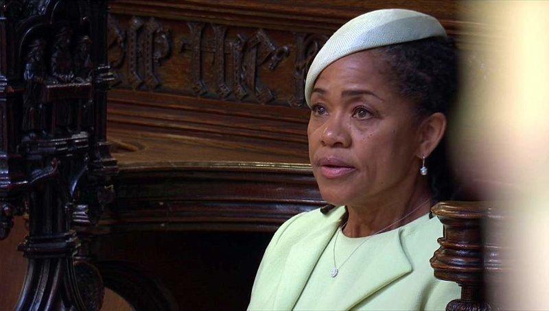 Во время церемонии 61-летнюю женщину переполняли эмоции Megan, великобритания, гарри, знаменитости, принцесса, свадьба, фотография