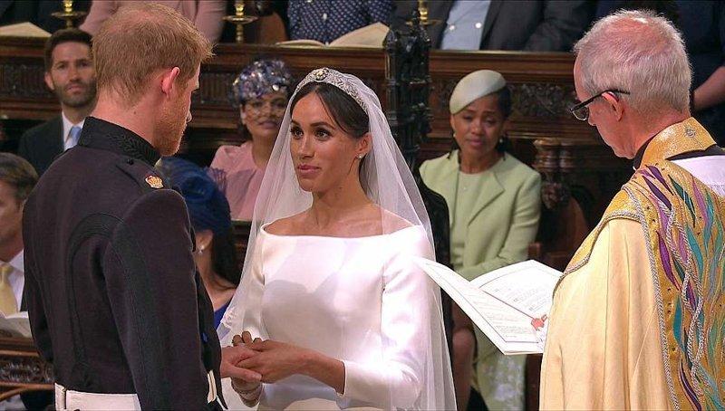Жених и невеста обмениваются клятвами перед архиепископ Кентерберийским Megan, великобритания, гарри, знаменитости, принцесса, свадьба, фотография