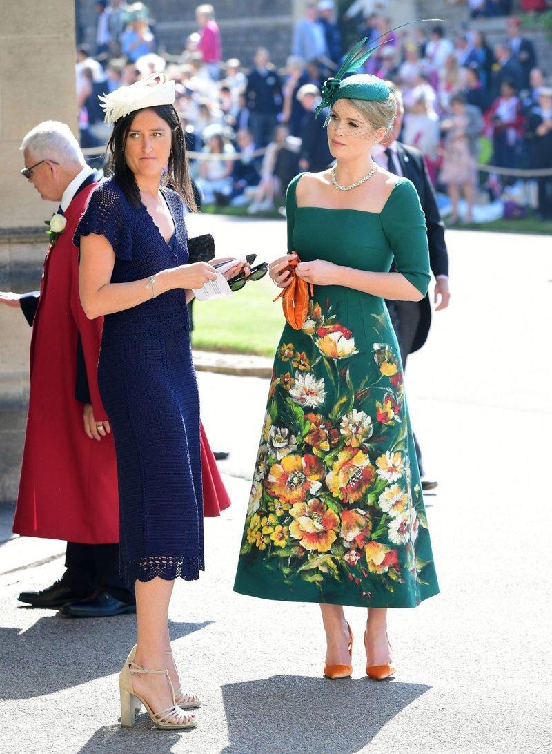 Племянница принцессы Дианы Китти Спенсер у часовни Святого Георгия  Megan, великобритания, гарри, знаменитости, принцесса, свадьба, фотография