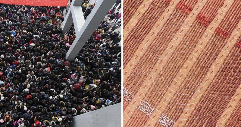 25 примеров настоящей жизни в Китае китай, личное пространство, перенаселенность, повседневность, толпа, фото