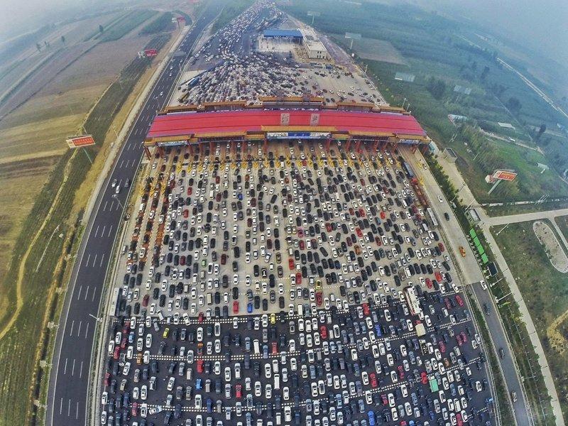 21. Пробка рядом с Пекином. китай, личное пространство, перенаселенность, повседневность, толпа, фото