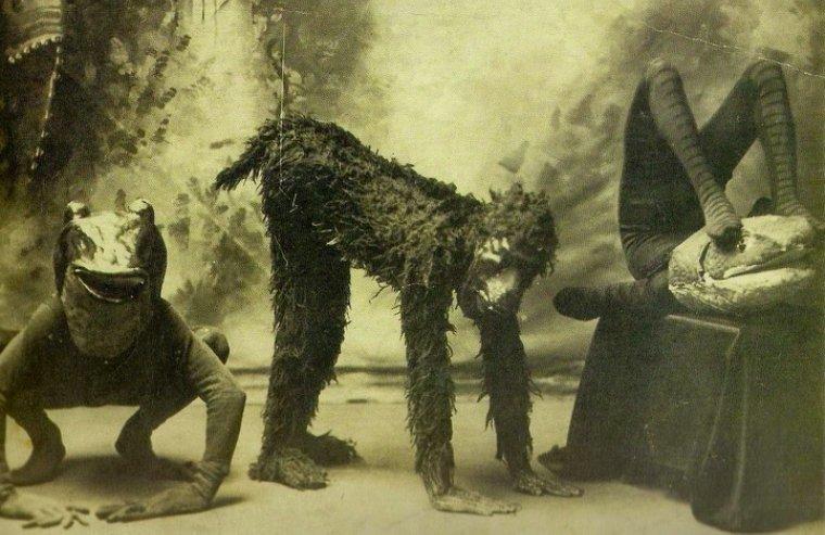 Актеры , переодетые в зверей. Снимок сделан в одном из лондонских театров в 1894 году истории, любопытно, люди и мир, новый взгляд, познавательно, репортажные снимки, фото, фотографии