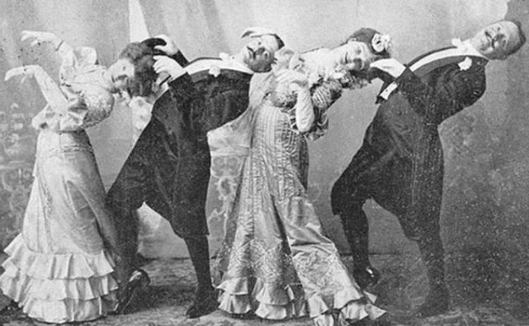 Гости на вечеринке танцуют кекуок, 1890 год истории, любопытно, люди и мир, новый взгляд, познавательно, репортажные снимки, фото, фотографии