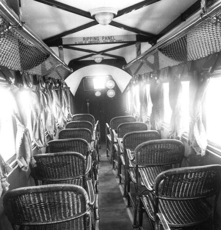 Салон пассажирского самолета авиакомпании Imperial Airlines, 1936 год истории, любопытно, люди и мир, новый взгляд, познавательно, репортажные снимки, фото, фотографии