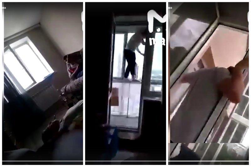 17-летний студент решил прогуляться по карнизу и сорвался: видео ynews, алкоголь, вписки, прогулка по карнизу, руфер, студенты, трагедия