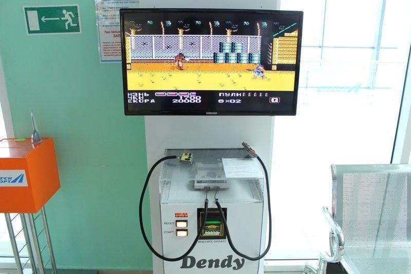 В аэропорту города Якутск я обнаружил вот такой игровой автомат - Dendy денди, игры, фотоотчет, якутск
