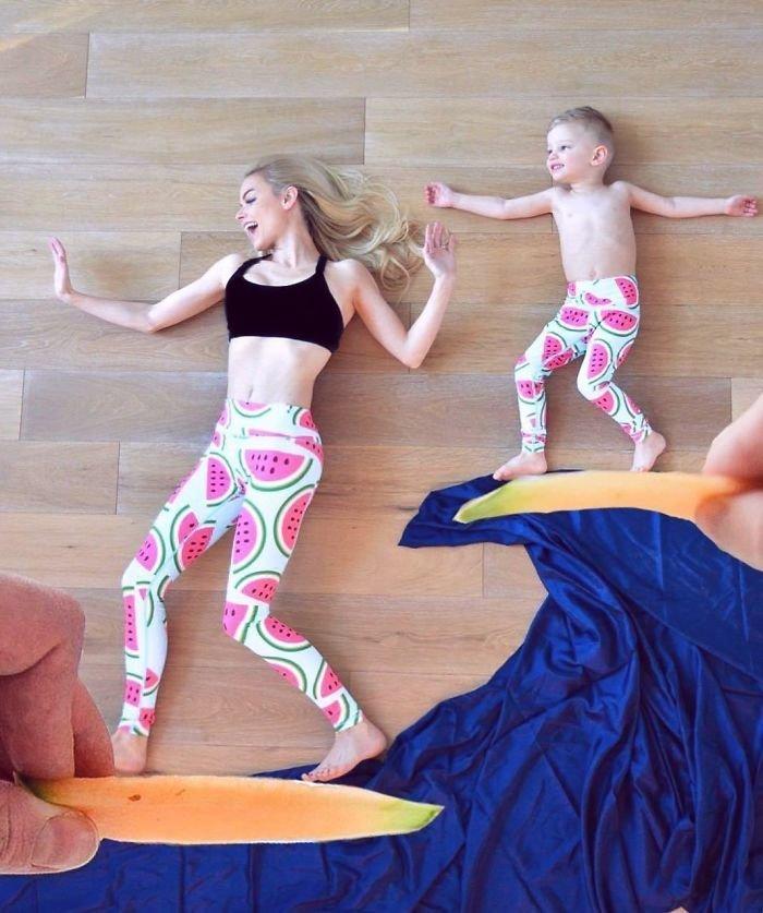 """Мать троих детей нашла """"лучшее средство от скуки"""" - креативные семейные фото! дети, забавно, идеи, креатив, оригинально, семья, фото, фотосессии"""