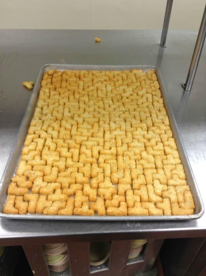 Печеньки - тетрис: ура, победа! аппетитно, блюда, вкусно, как снимать еду, продукты, слюнки текут, фото, фотографии еды