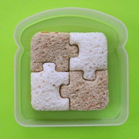Сэндвич-паззл - идеален для детского завтрака! аппетитно, блюда, вкусно, как снимать еду, продукты, слюнки текут, фото, фотографии еды