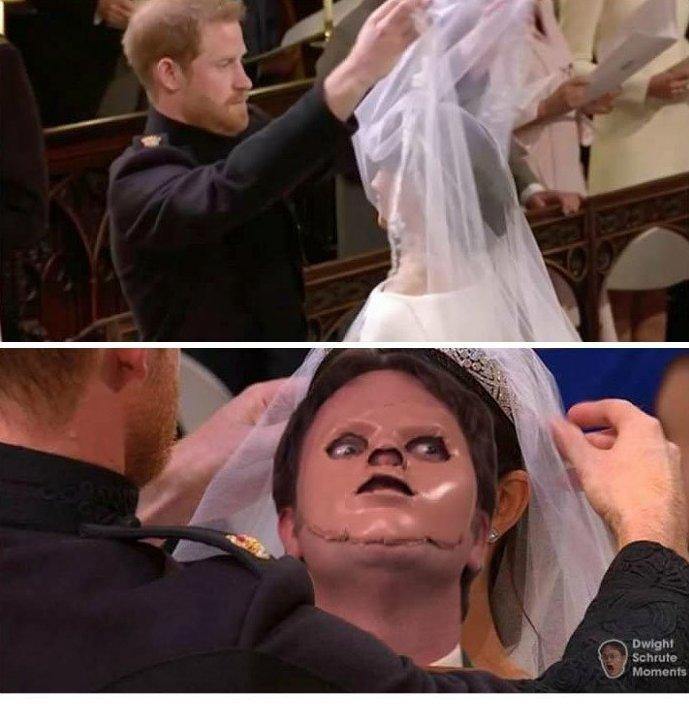 """""""Без такого мема свадьбе чего-то не хватало!"""" Меган Маркл, забавно, королевская свадьба, приколы, принц гарри, свадебный юмор, смешно, юмор"""