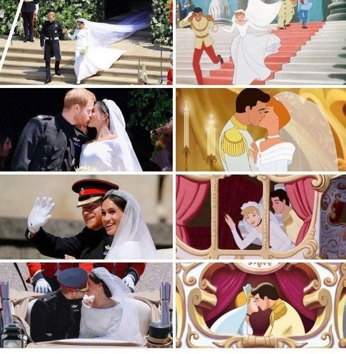 Да и сами жених с невестой явно любят диснеевские мультики! Меган Маркл, забавно, королевская свадьба, приколы, принц гарри, свадебный юмор, смешно, юмор