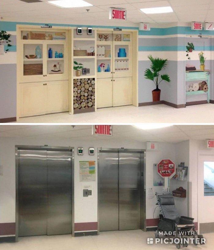 3. Дизайн этого больничного лифта сделан специально так, чтобы больные, страдающие нарушениями памяти, случайно не ушли на улицу в мире, дизайн, дизайнеры, красота, креатив, лифтк, фантази