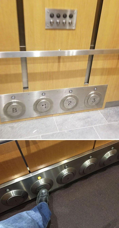 5. Кнопки лифта, которые вы можете нажимать ногой в мире, дизайн, дизайнеры, красота, креатив, лифтк, фантази