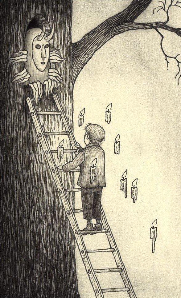 27. Занято иллюстрация, рисунок, страх, ужас, фантазия, художник