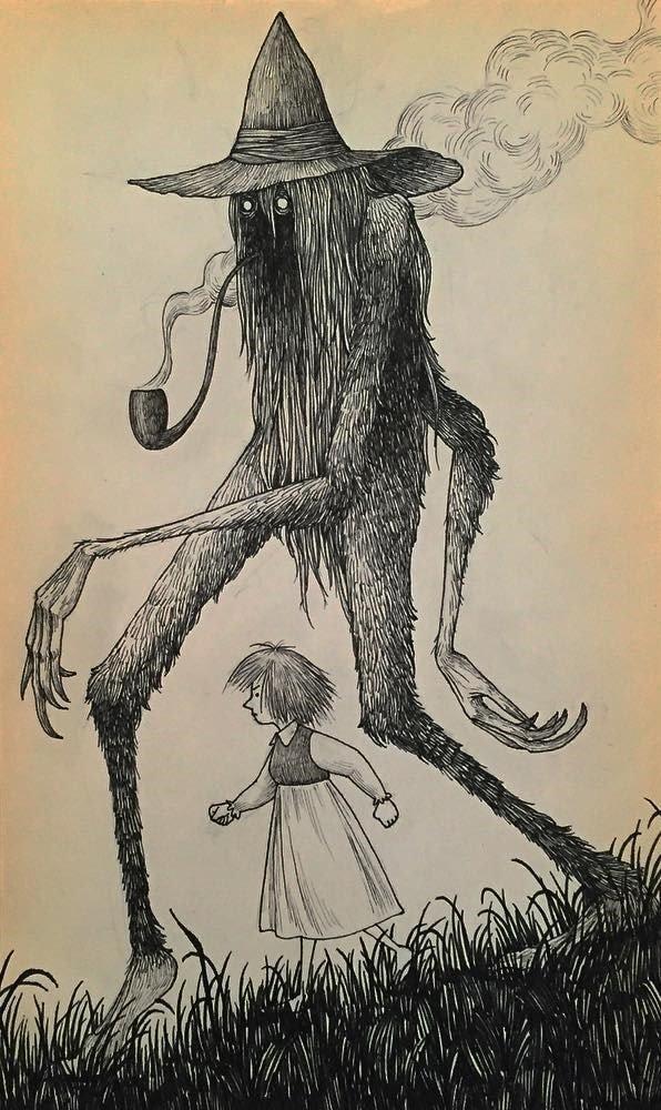 16. Компаньон иллюстрация, рисунок, страх, ужас, фантазия, художник