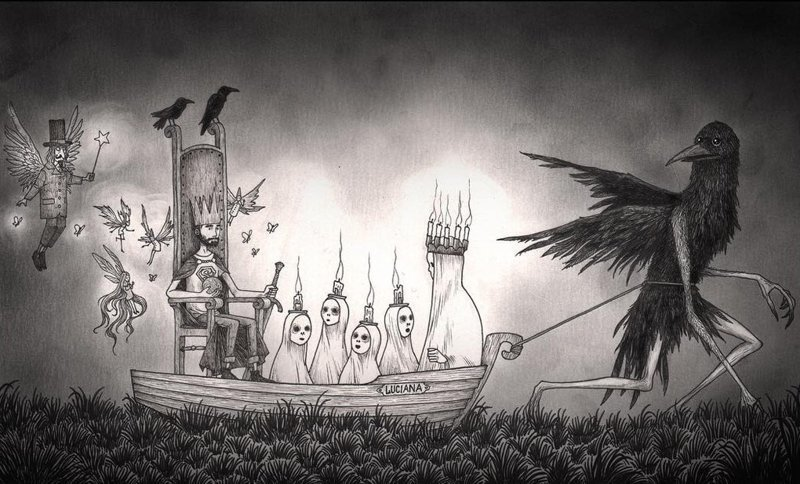 18. Встретимся на другой стороне иллюстрация, рисунок, страх, ужас, фантазия, художник
