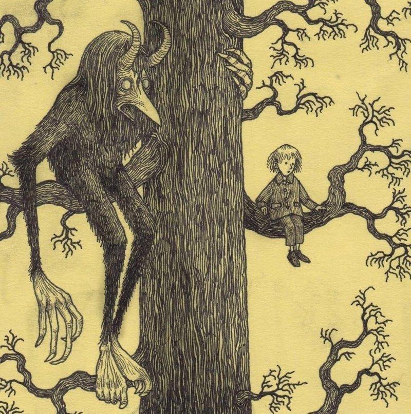 4. Тусовка иллюстрация, рисунок, страх, ужас, фантазия, художник