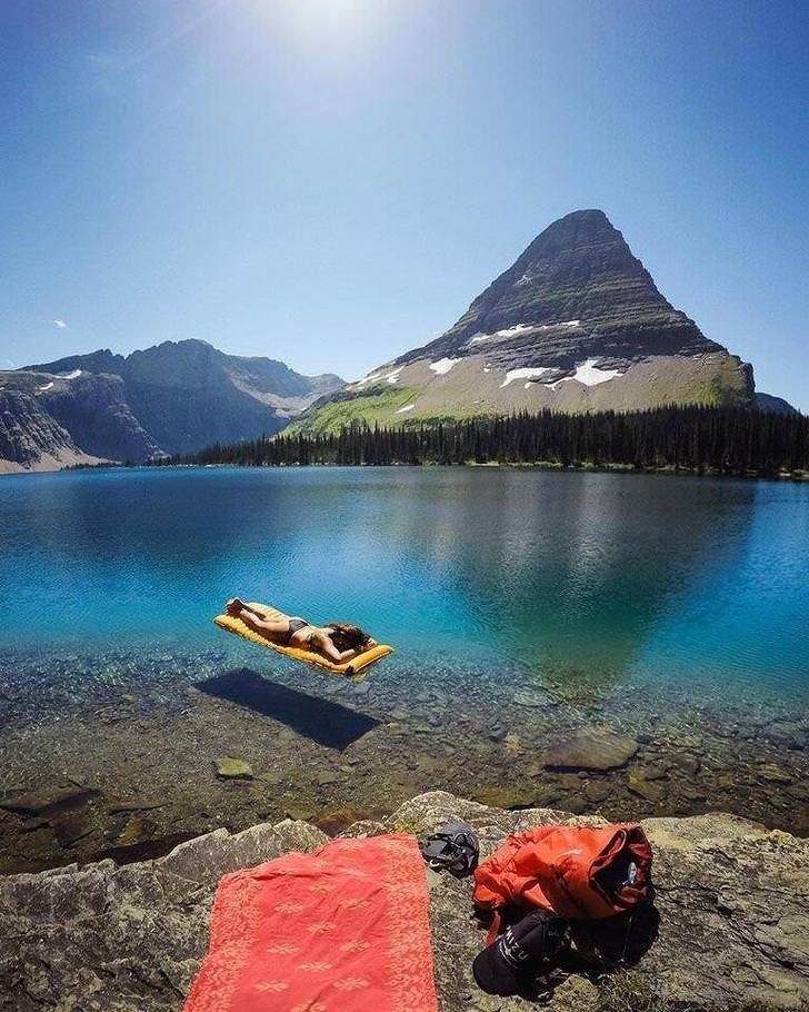 """2. """"Думаю, что уже знаю, куда поеду в следующий отпуск"""". Озеро в национальном парке Глейшер (США) без фотошопа, вы не поверите, места, природа, реальность, удивительные, чудеса"""