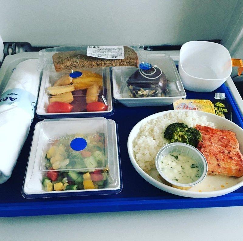 """3. """"Аэрофлот"""" авиакомпании, еда на борту, отпуск, питание в самолете, поездка, рейс, фото"""