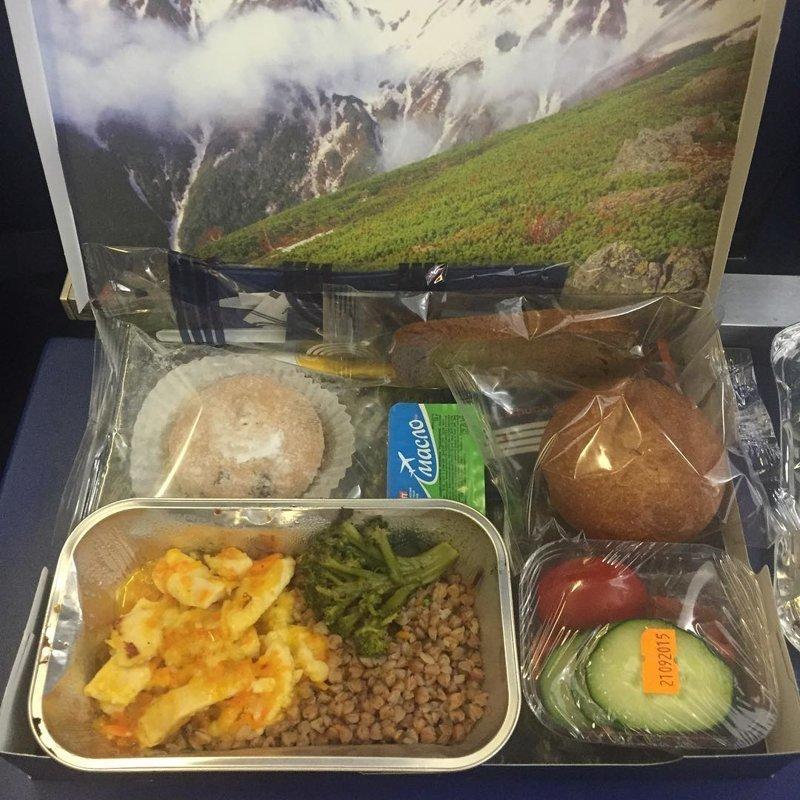 """2. Авиакомпания """"Аврора"""" авиакомпании, еда на борту, отпуск, питание в самолете, поездка, рейс, фото"""