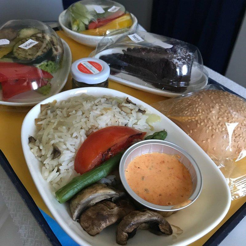 """12. """"МАУ"""" - международные авиалинии Украины (веганский обед) авиакомпании, еда на борту, отпуск, питание в самолете, поездка, рейс, фото"""