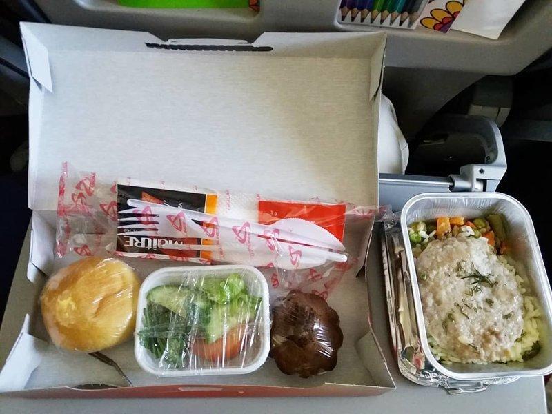 """5. """"Уральские авиалинии"""" авиакомпании, еда на борту, отпуск, питание в самолете, поездка, рейс, фото"""