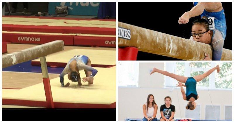 Упал? Улыбайся! Гимнасты хвалятся своими провалами в новом флешмобе GymnasticsFailChallenge, гимнастика, провалы, смотреть больно, спорт, флешмоб