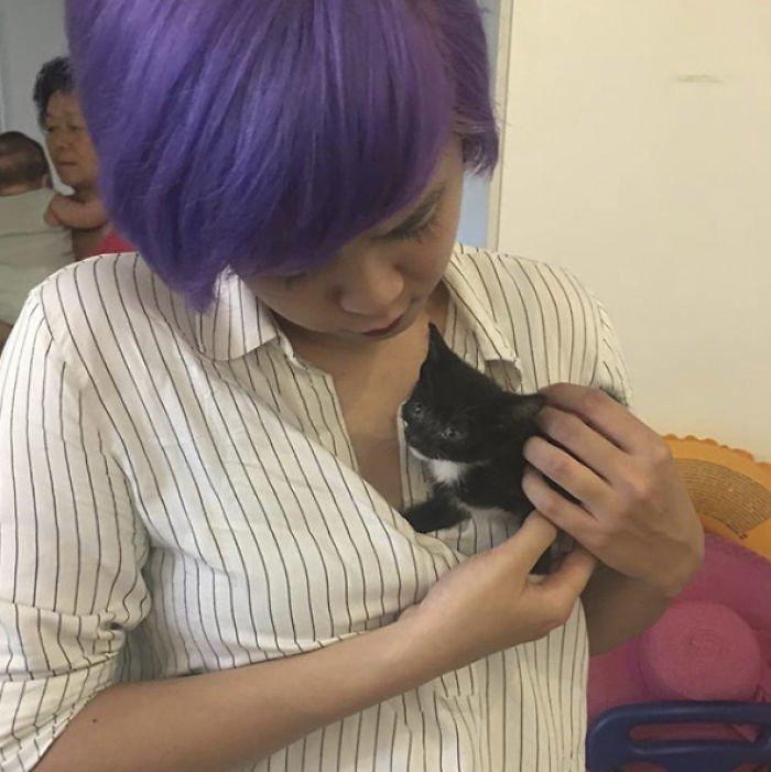 """""""Мама"""" назвала свое очаровательное, но немного злобное чудо Люцифером Добрые дела, до и после, добрые люди, животные, кот, котенок, спасение, фото"""