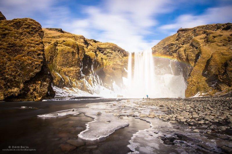 Водопад Скоугафосс (Skogafoss) исландия, красиво, красивый вид, природа, путешествия, туризм, фото, фотограф