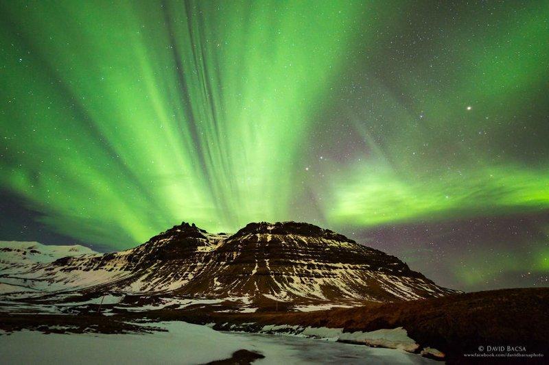 Волшебное северное сияние исландия, красиво, красивый вид, природа, путешествия, туризм, фото, фотограф