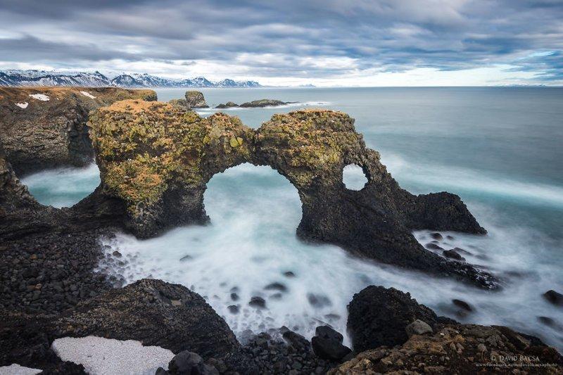 Каменная арка Гатклеттур (Gatklettur) исландия, красиво, красивый вид, природа, путешествия, туризм, фото, фотограф