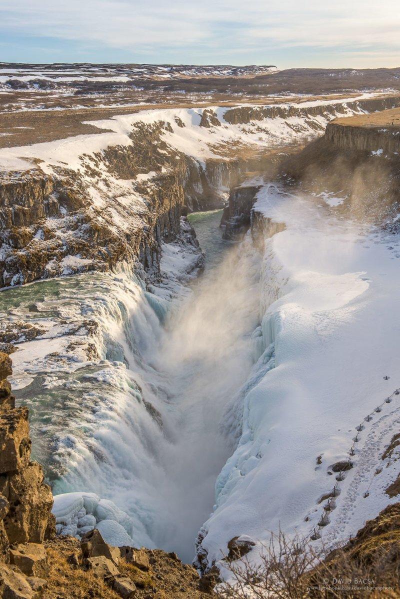 Водопад Гюдльфосс (Gullfoss) исландия, красиво, красивый вид, природа, путешествия, туризм, фото, фотограф