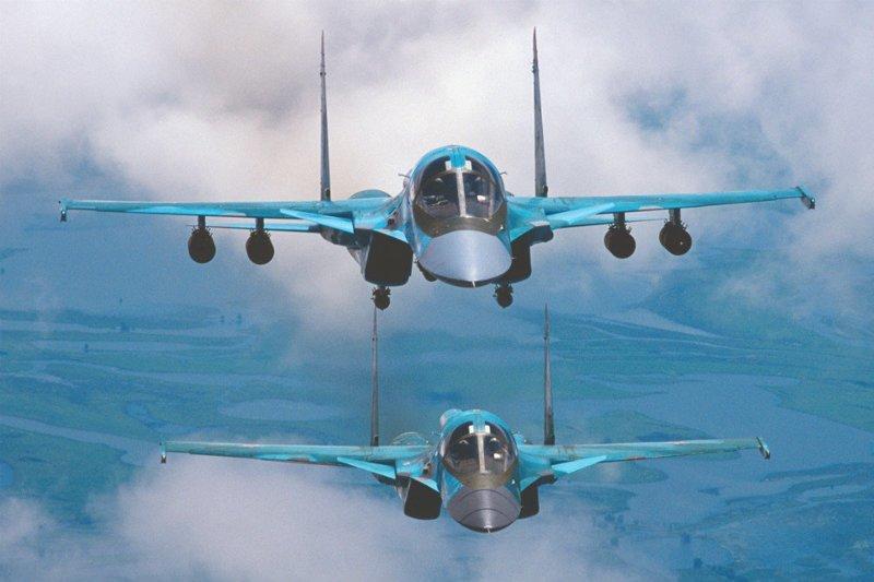 В ВКС России в рамках выполнения ГОЗ поступили два бомбардировщика Су-34 Хорошие, добрые, новости, россия, фоторепортаж