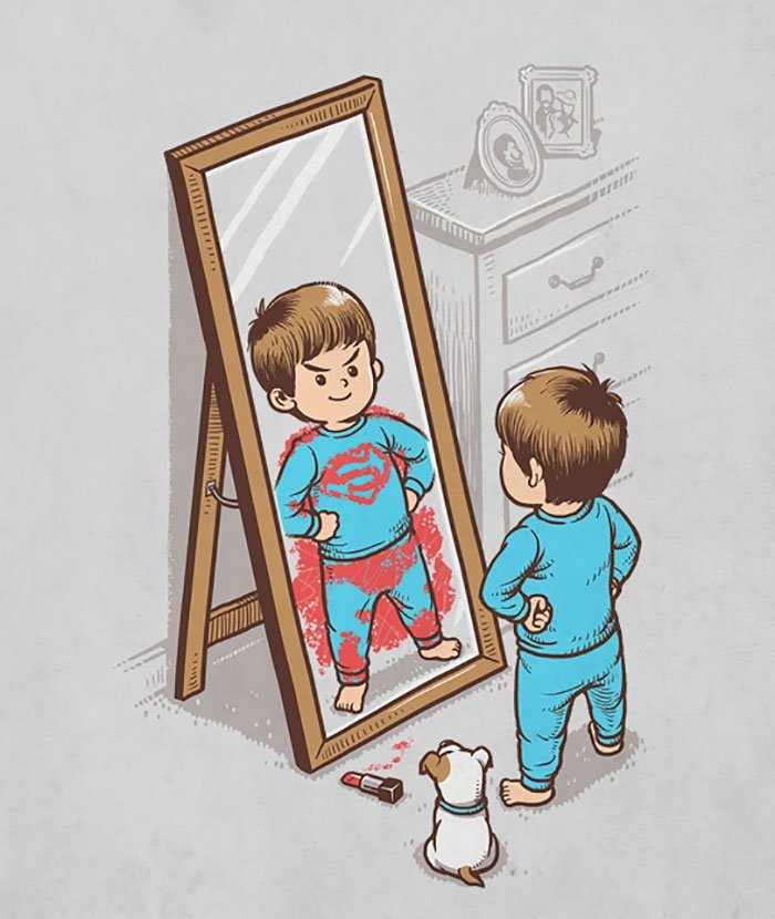 1. герой, иллюстрация, искусство, персонаж, поп-культура, художник, черный юмор
