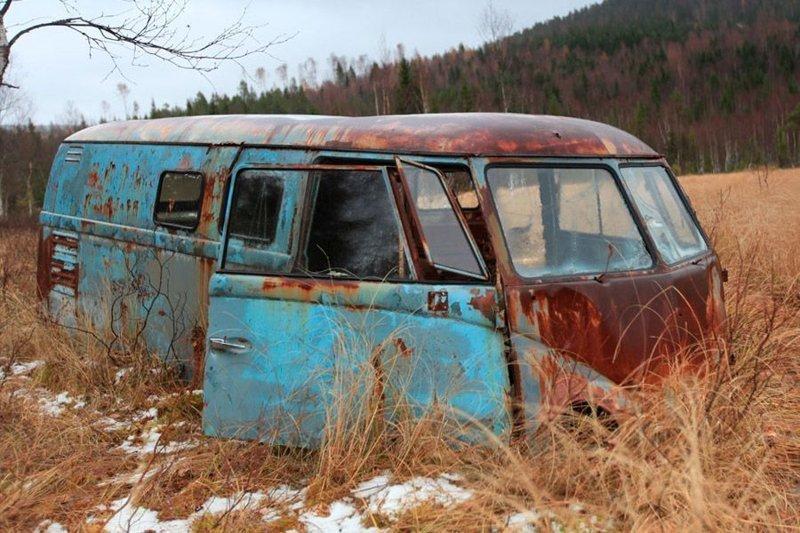 История спасения редкого хиппи-баса из болота volkswagen, volkswagen t1, авто, автомобили, находка, олдтаймер, ретро авто, фургон
