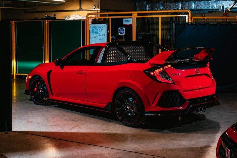 Из Honda Civic Type R сделали очень быстрый пикап Civic, honda, honda civic, type r, авто, автомобили, пикап, хэтчбек