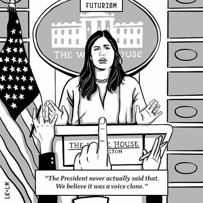 «Президент такого не говорил. Это была имитация его голоса» будущее, в мире, комиксы, люди, планета, рисунки. правда жизни