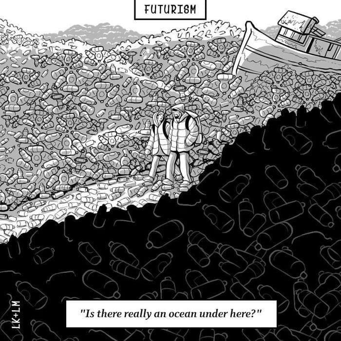 «А правда, что там внизу — океан?» будущее, в мире, комиксы, люди, планета, рисунки. правда жизни