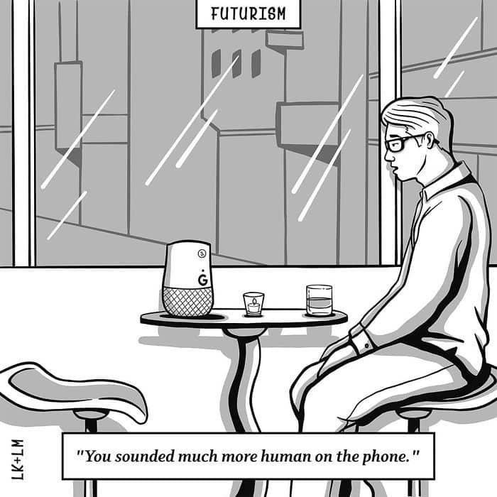 «По телефону ты звучала как-то более по-человечески» будущее, в мире, комиксы, люди, планета, рисунки. правда жизни