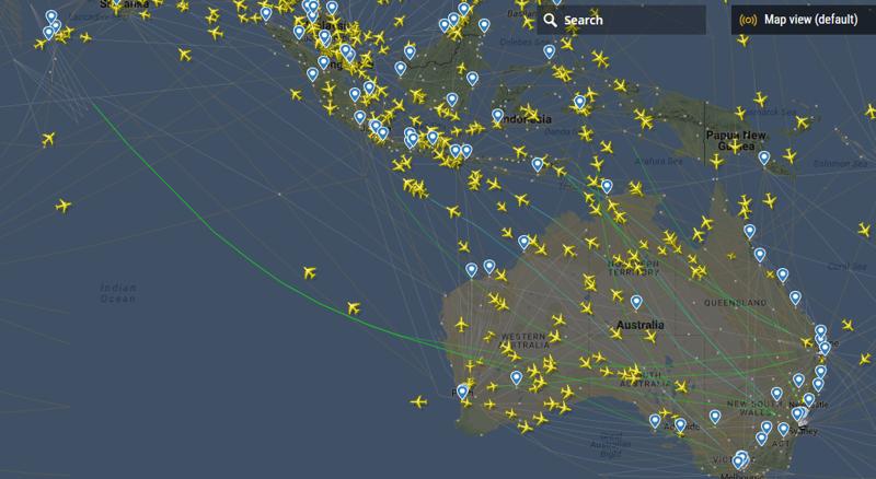 Трасса между Австралией и Юго-Восточной Азией как, океан, самолеты