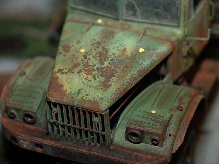 Брошенная в/ч МАЗ-537, краз, модель, урал