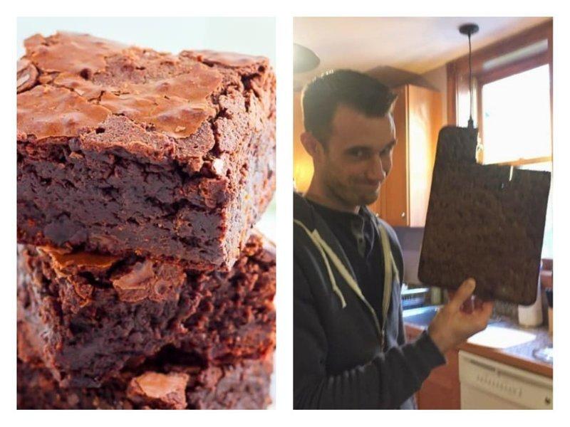 Если жених не сбежит от тебя из-за твоего шоколадного кекса, который получился похожим на горелую доску, - значит, это любовь! забавно, кулинария, не шмогла, неудачный шедевр, ошибка повара, продукты, смешно, юмор