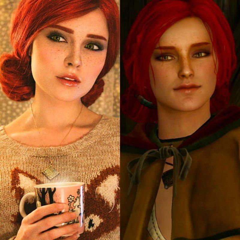 """Трисс Меригольд (""""Ведьмак"""") Универсальный солдат, девушка, косплей, косплейщики, костюмы, крутая, наряды, персонажи"""