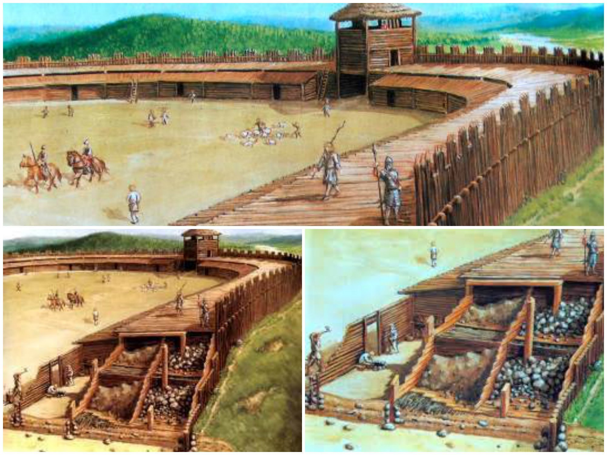 Одна из крепостей  на Висле изнутри, интересно, как это сделано, познавательно, разрез