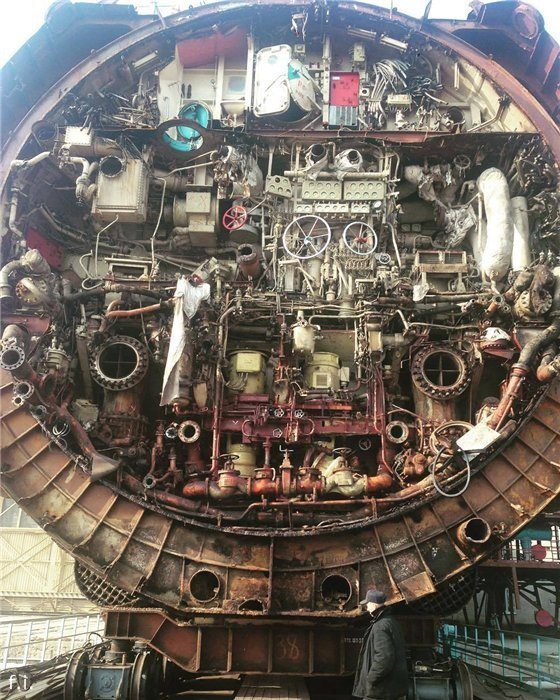 Подводная лодка в разрезе изнутри, интересно, как это сделано, познавательно, разрез