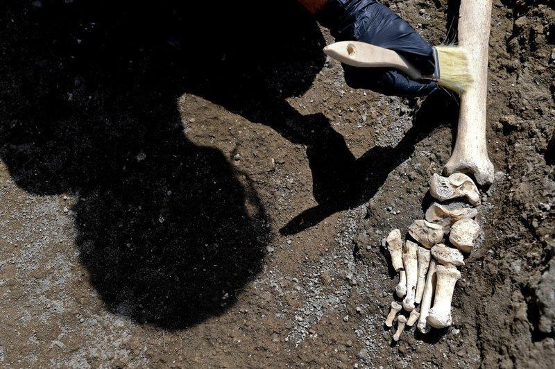 Генеральный директор археологического памятника Помпеи Массимо Осанна назвал открытие «драматическим и исключительным» археологи, везувий, вулкан, извержение, помпея, скелет, ученные