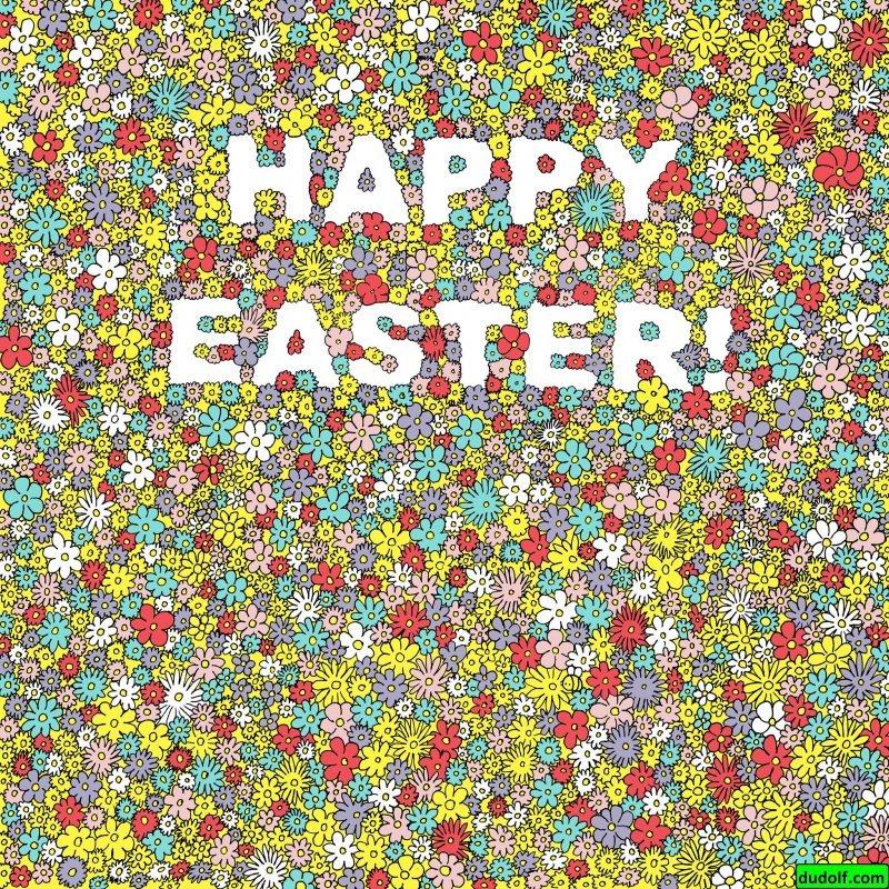 А поищите пчелку, спрятавшуюся среди цветов! ynews, головоломка, забавно, загадка, рисунок, художник, юмор