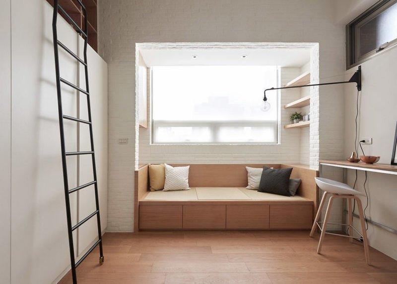 Но архитекторы из A Little Design знают, как максимально использовать каждый сантиметр жилого пространства  дизайн, идея, квартира, комната, планировка, пространство, студия